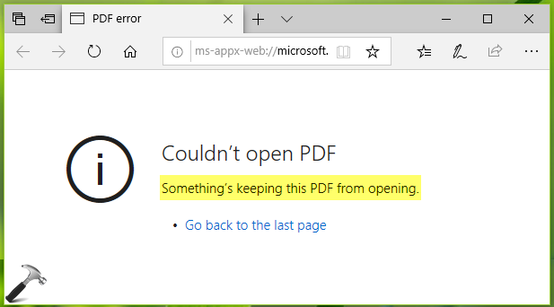 FIX Something's Keeping This PDF From Opening In Microsoft Edge