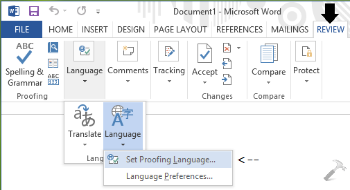 Fix Spell Checker Not Working In Word 2013