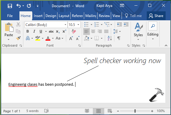 FIX Spell Checker Not Working In Word 2016