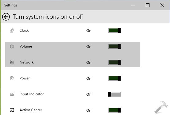 FIX] System Icons Missing From Taskbar In Windows 8 Or Later