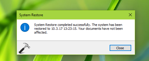 FIX System Restore Failed While Restoring The Directory From The Restore Point In Windows 10