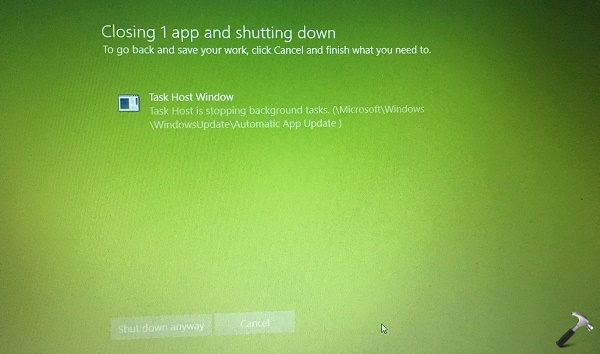 FIX Task Host Window Is Preventing Shut Down In Windows 10