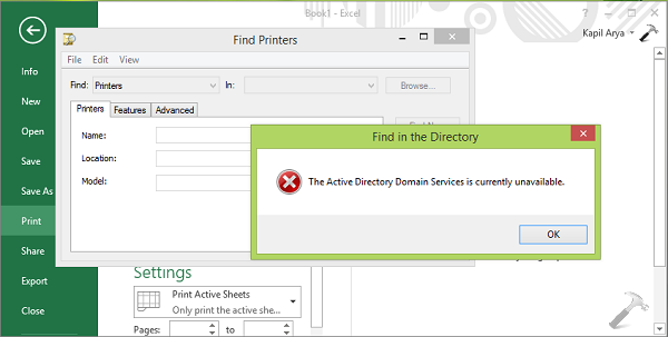 FIX] The Active Directory Domain Services Is Currently Unavailable