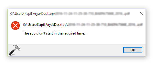 FIX] The App Didn\u0027t Started In The Required Time For Windows 10