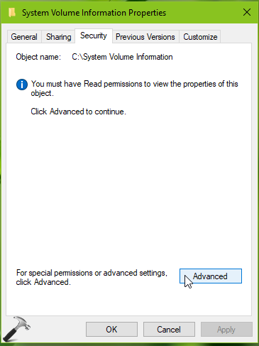 FIX The Backup Application Could Not Start Due To An Internal Error In Windows 10