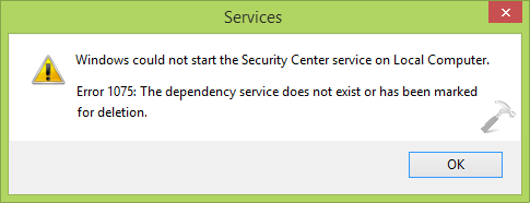 FIX] The Dependency Service Does Not Exist Or Has Been