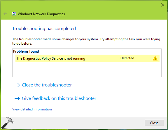 FIX The Diagnostics Policy Service Is Not Running In Windows 10