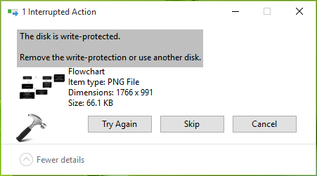 FIX The Disk Is Write Protected Error For USB Drives In Windows 10
