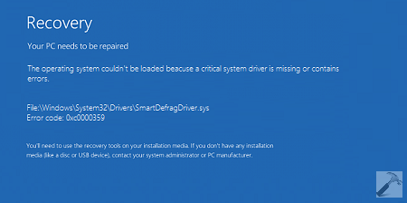 FIX The Operating System Couldn't Be Loaded Because A Critical System Driver Is Missing Or Contains Error