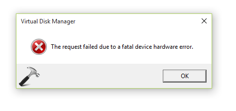 FIX The Request Failed Due To A Fatal Device Hardware Error