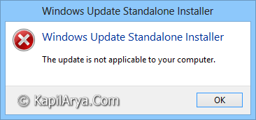 FIX The Update Is Not Applicable To Your Computer