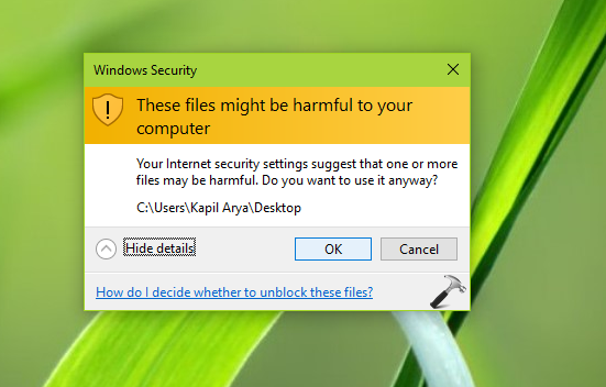 FIX These Files Might Be Harmful To Your Computer In Windows 10
