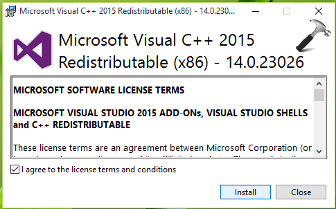microsoft visual c++ runtime library windows 7 this application has requested