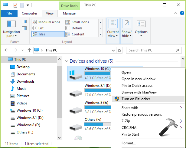 FIX This Device Can't Use A Trusted Platform Module For BitLocker In Windows 10
