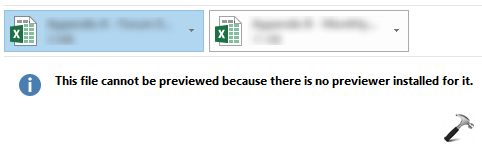 FIX - This File Cannot Be Previewed Because There Is No Previewer Installed For It
