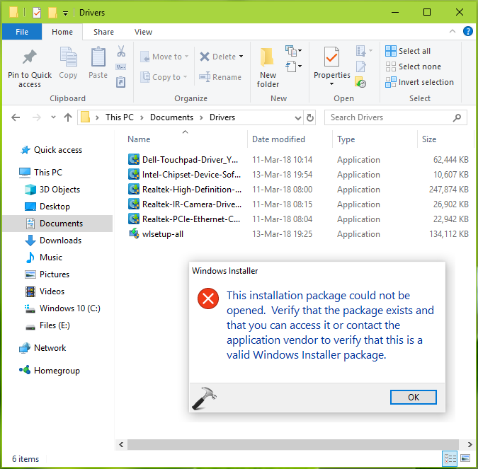 FIX This Installation Package Could Not Be Opened In Windows 10