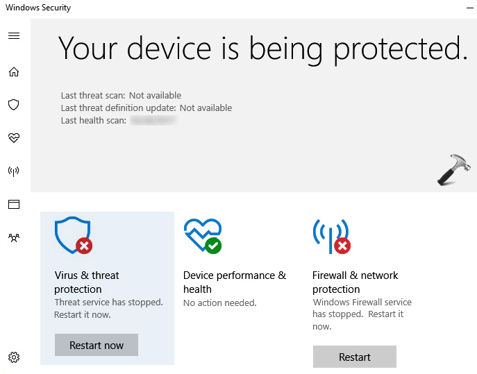 FIX Threat Service Has Stopped In Windows Security