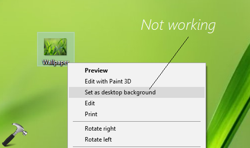 FIX Unable To Change Desktop Background In Windows 10