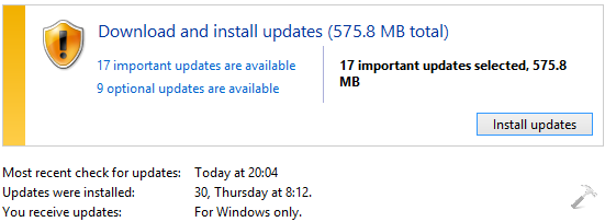 FIX Unable To Check Windows Updates On Windows 8.1 4