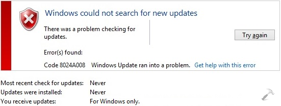 FIX Unable To Check Windows Updates On Windows 8.1