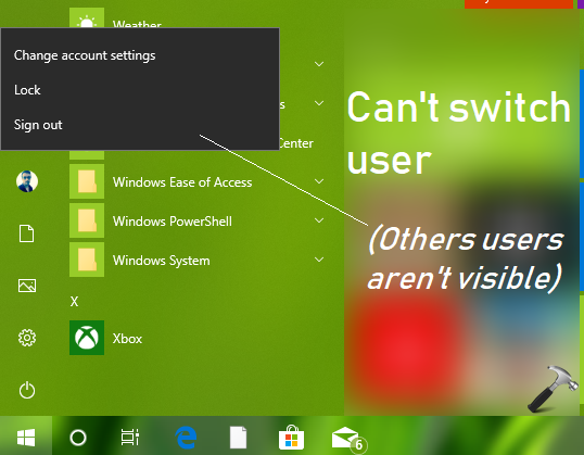 FIX Unable To Switch Users In Windows 10
