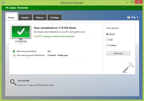 FIX Virus And Spyware Definitions Couldn't Be Updated In Windows Defender