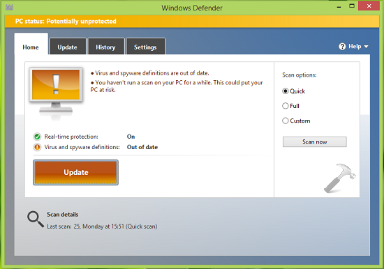 FIX] Virus And Spyware Definitions Couldn't Be Updated In