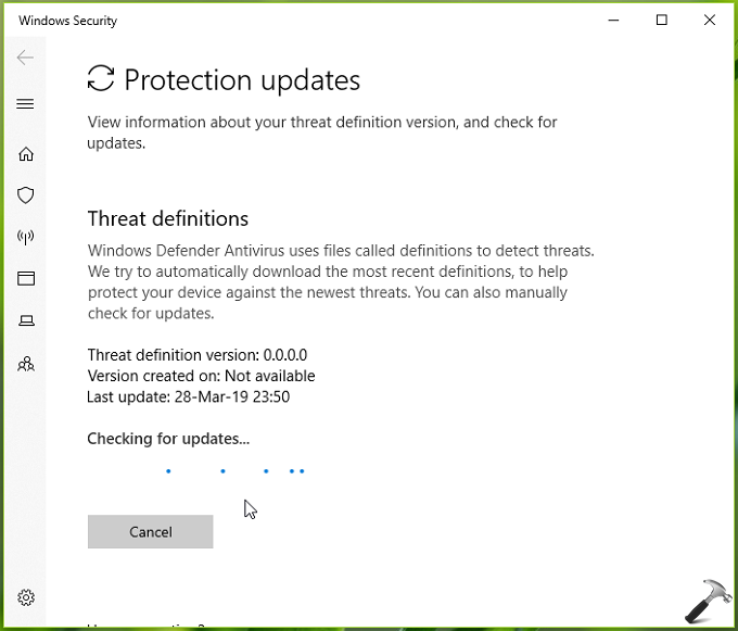 FIX Virus Protection Is Out Of Date In Windows 10