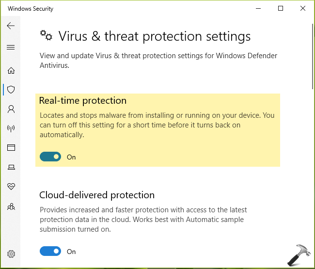 FIX Virus Protection Is Turned Off In Windows 10