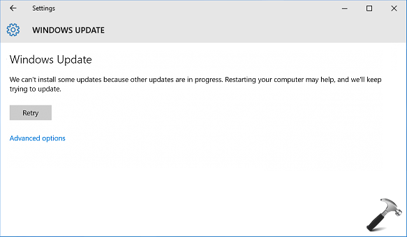[FIX] We Can't Install Some Updates Because Other Updates Are In Progress In Windows 10