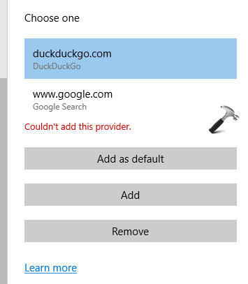 FIX We Couldnt Add This Provider Message In Microsoft Edge