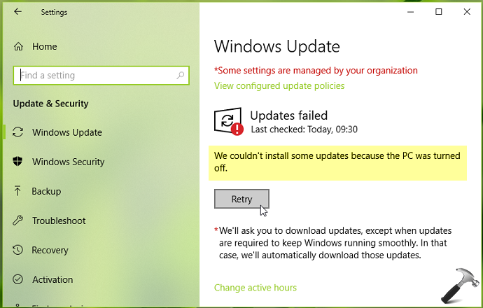 FIX We Couldn't Install Some Updates Because The PC Was Turned Off Message In Windows 10