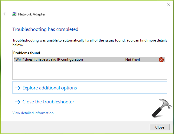 FIX - WiFi/Ethernet Doesn't Have A Valid IP Configuration In Windows 10