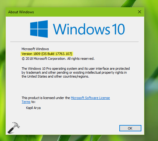 FIX Windows 10 V1809 Failed To Install