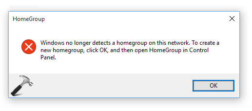 Windows Can Not Set Up A HomeGroup On This Computer In Windows 10