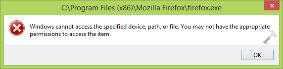 [FIX] Windows Cannot Access The Specified Device, Path Or File