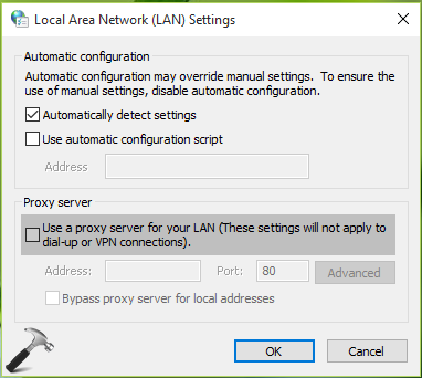 FIX - Windows Could Not Automatically Detect This Networks Proxy Settings