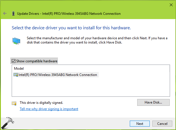 FIX Windows Could Not Find A Driver For Your Network Adapter In Windows 10