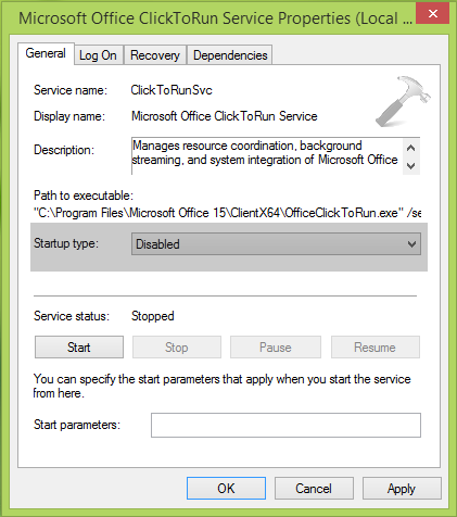 Windows Could Not Stop The Microsoft Office ClickToRun Service On Local Computer