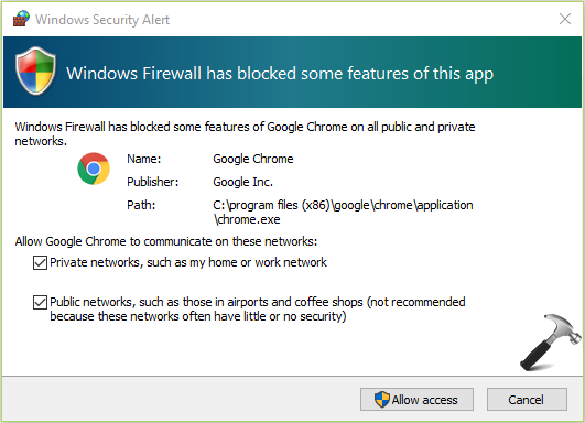 [FIX] Windows Firewall Has Blocked Some Features Of This App In Windows 10
