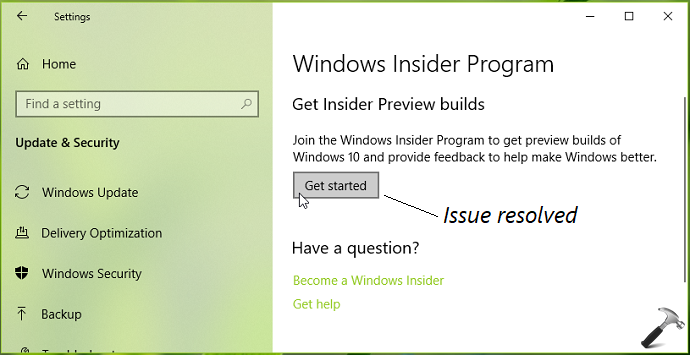 FIX Windows Insider Get Started Button Greyed Out In Windows 10