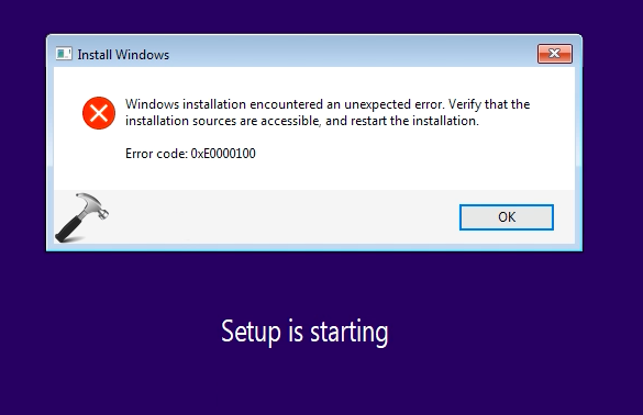 FIX] Windows Installation Encountered An Unexpected Error