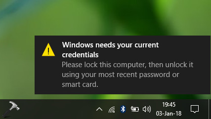 FIX Windows Needs Your Current Credentials In Windows 10
