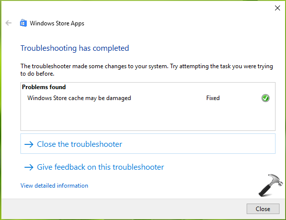 FIX Windows Store Cache May Be Damaged In Windows 10