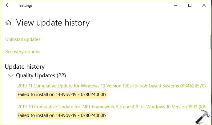 FIX: Windows Update Error Code 0x8024000b
