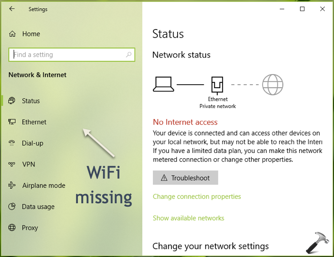 FIX Wireless Settings Are Missing In Windows 10