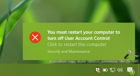 FIX You Must Restart Your Computer To Turn Off User Account Control