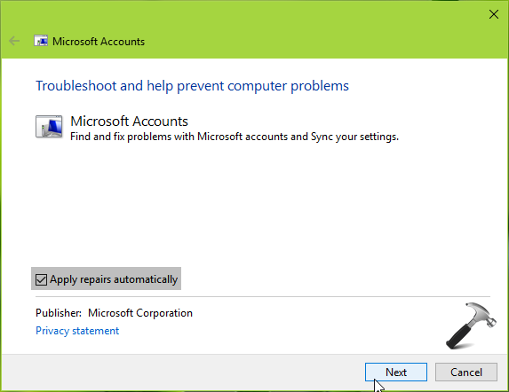 FIX You Need To Fix Your Microsoft Account For Apps Notification In Windows 10