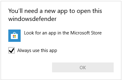 FIX You'll Need A New App To Open This WindowsDefender