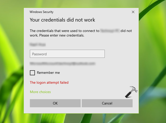 FIX Your Credentials Did Not Work For Remote Desktop Connection